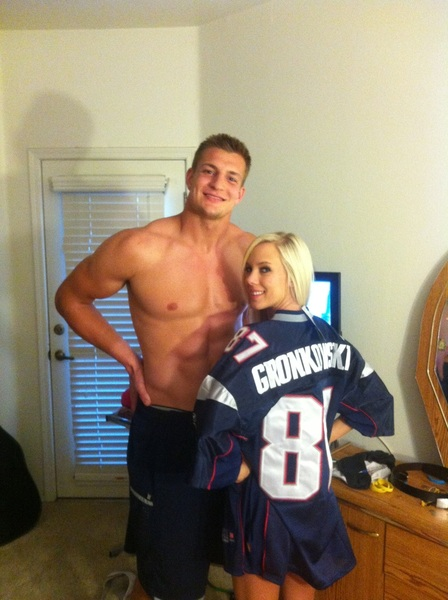 Rob Gronkowski with vacker, Flickvän Bibi Jones
