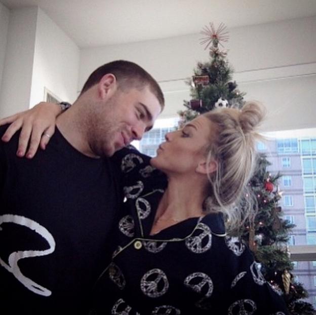 Julie Ertz's husband Zach Ertz, and Zach Ertz's wife Julie Ertz