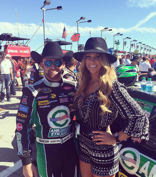 Austin Dillon's wife Whitney Ward