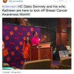 Dabo Swinney's wife Kathleen Swinney - Twitter