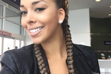 Derek Fisher's girlfriend Gloria Govan - Twitter
