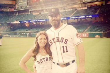 Evan Gattis' girlfriend Kimberly Waters - Twitter