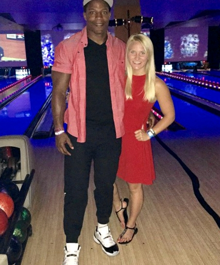 David Johnson's girlfriend Meghan Brock