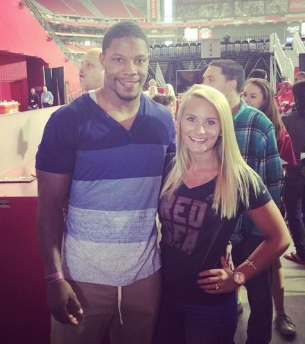 David Johnson's girlfriend Meghan Brock
