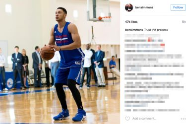 Ben Simmons Girlfriend is Basketball - Instagram