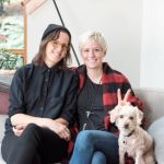 Megan Rapinoe Girlfriend Sera Cahoone and their dog