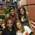 John Saunders' wife Wanda Saunders and daughters