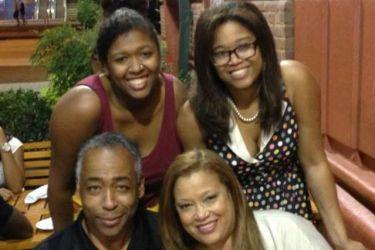 John Saunders' wife Wanda Saunders and daughters