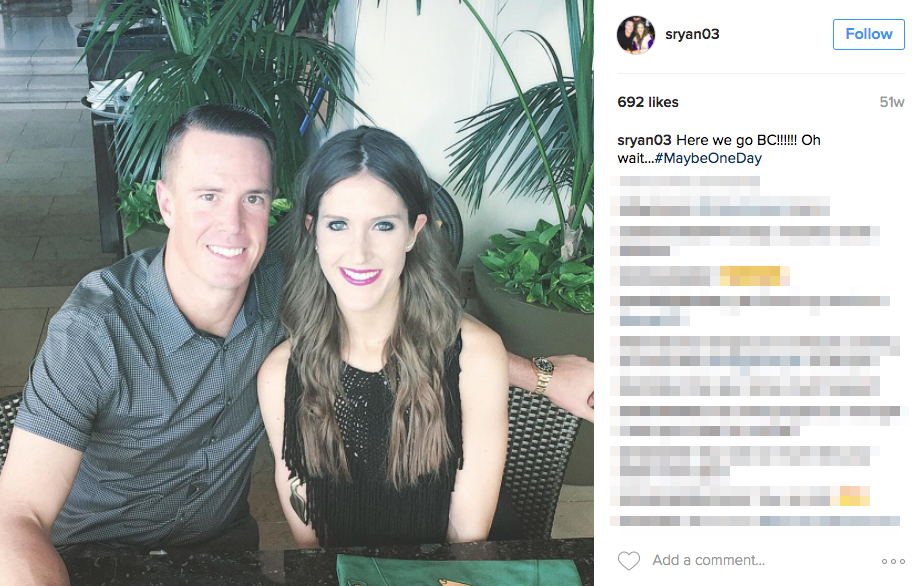 Matt Ryan's wife Sarah Marshall Ryan