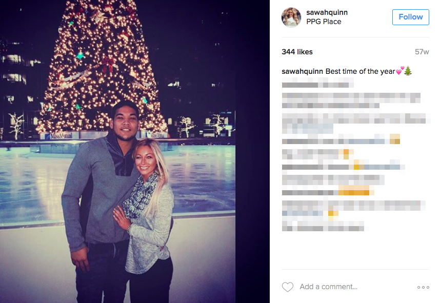 James Conner's Girlfriend Sarah Quinn