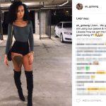 Tevin Coleman's Girlfriend Ahkeilah Murib - Instagram