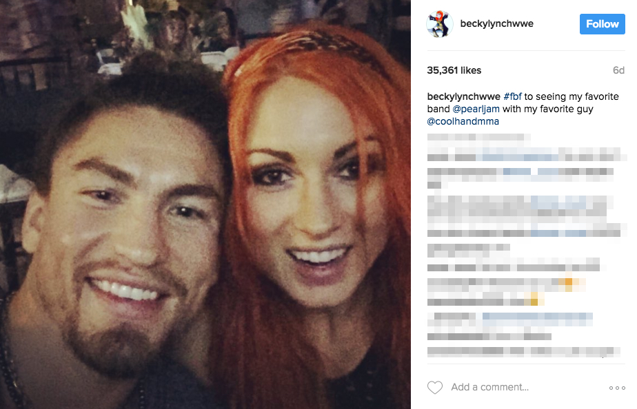 Luke Sanders' girlfriend Becky Lynch