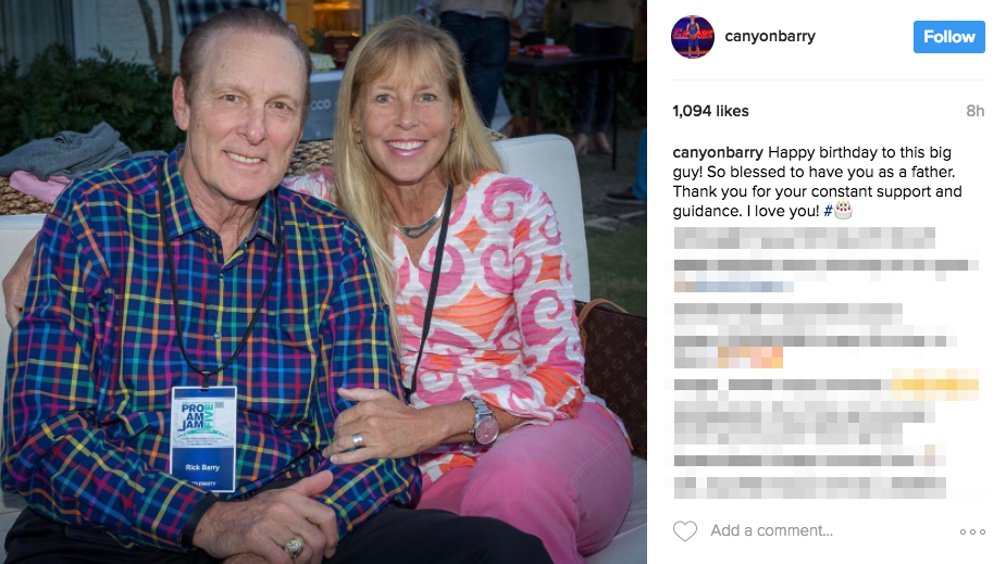 Canyon Barry's Parents Rick and Lynn Barry