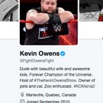 Kevin Owens wife Karina Steen - Twitter