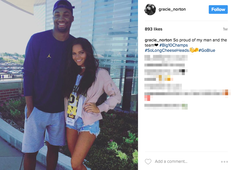 Zak Irvin's girlfriend Gracie Norton