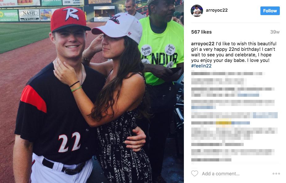 Christian Arroyo's Girlfriend Jessica Handler