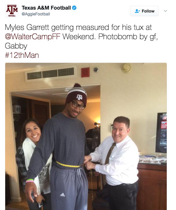 Myles Garrett's girlfriend situation