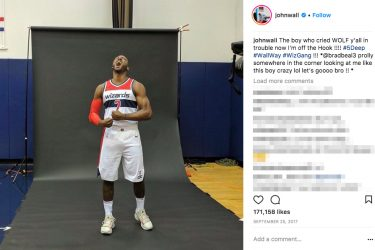 John Wall's girlfriend history -Instagram