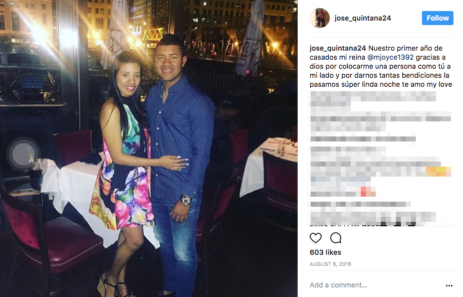 Jose Quintana's Wife Michel Quintana
