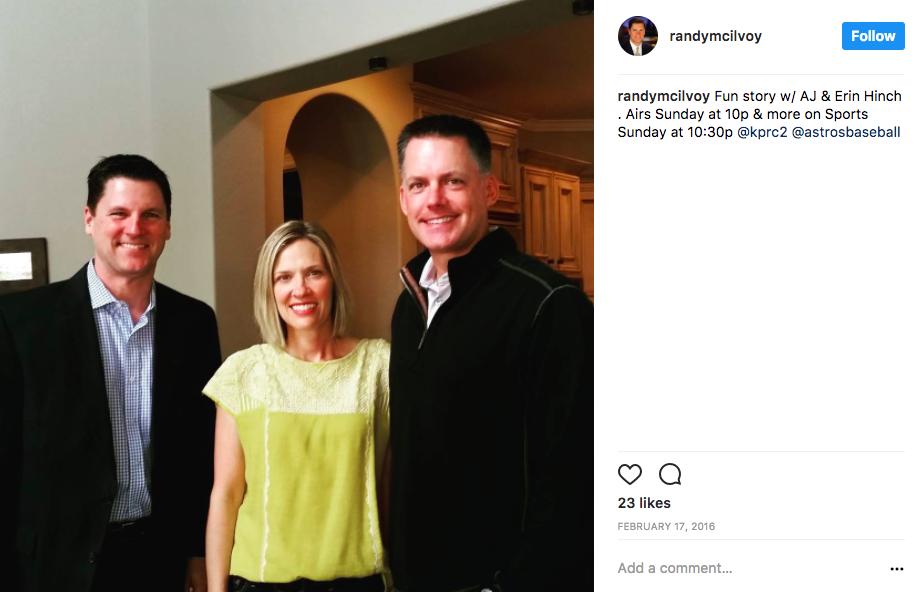 AJ Hinch's Wife Erin Hinch
