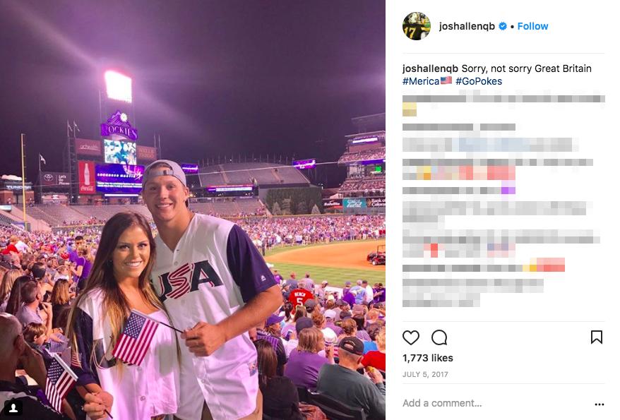 Josh Allen's girlfriend Brittany Williams