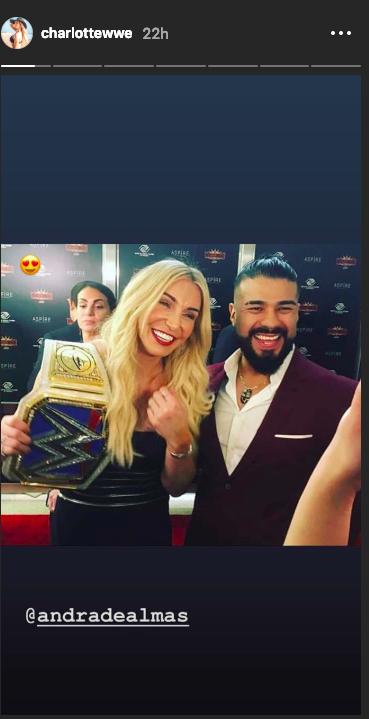 Charlotte Flair's boyfriend Andrade Cien Almas