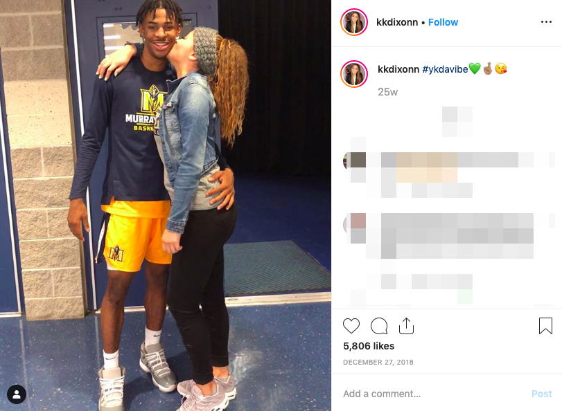 Ja Morant's girlfriend KK Dixon