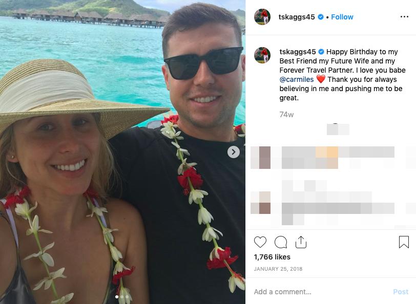 Tyler Skaggs' wife Carli Skaggs