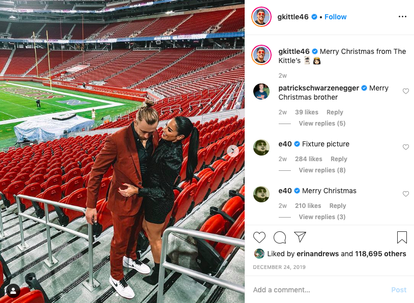 George Kittle's wife Claire Kittle