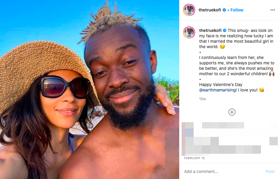 Kofi Kingston's wife Kori Campfield