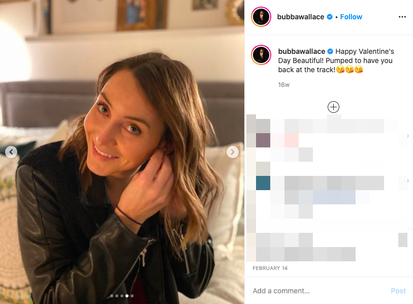 Bubba Wallace's girlfriend Amanda Carter