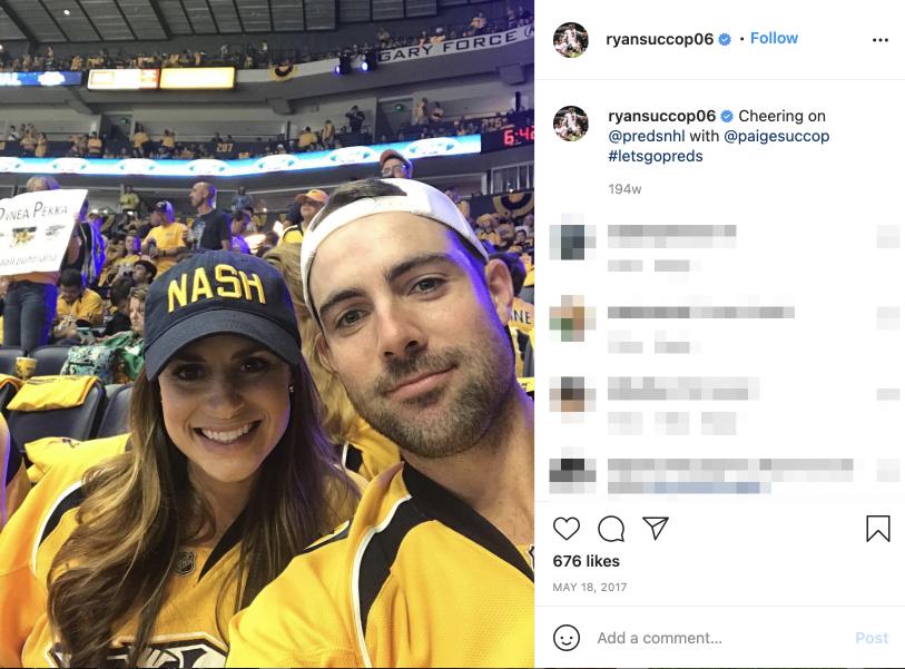 Ryan Succop's wife Paige Succop